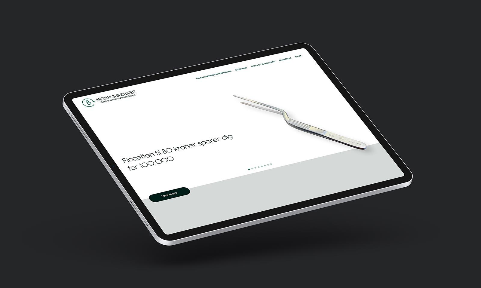 Gastroadfærd website op iPad